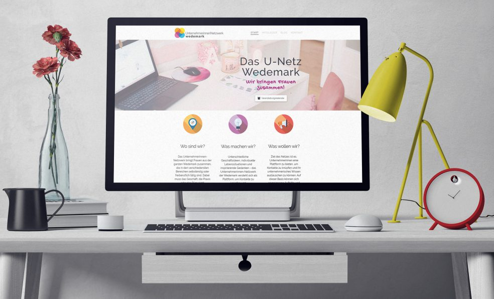 Webseite des Unternehmerinnen-Netzwerks Wedemark